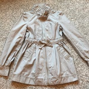 Womens H&M Taupe Cargo Utility Jacket